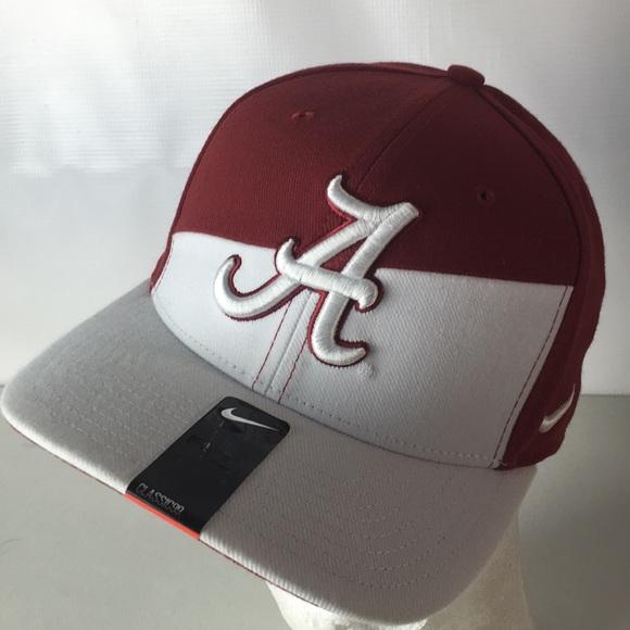 06b71185c8d Nike Alabama Crimson Tide Hat Swoosh SZ M L BAMA